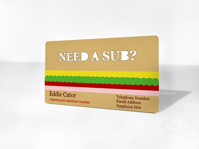 Substitute Teachers Business Cards Luxury the Importance Of Business Cards for Subs Sub Sidekick Blog