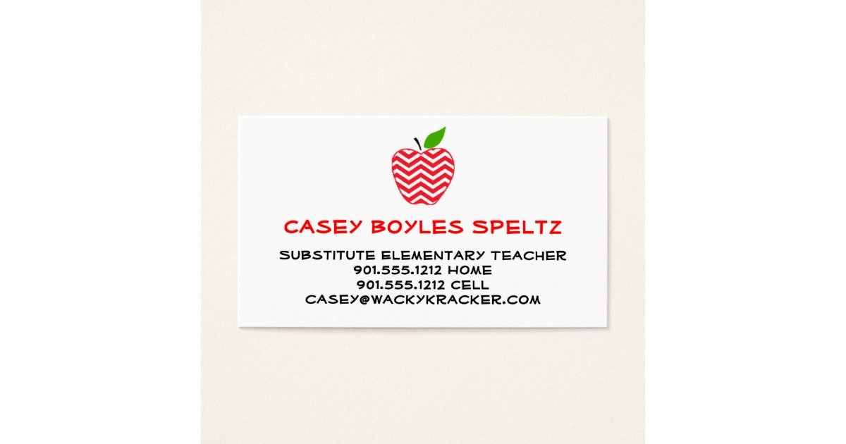 Substitute Teaching Business Cards New Substitute Teacher Business Cards