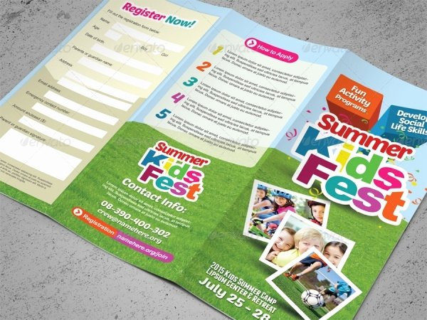 Summer Camp Brochure Ideas Beautiful 20 Summer Camp Brochures Psd Vector Eps Jpg Download