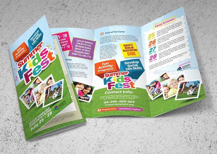 Summer Camp Brochure Ideas Elegant 15 Corporate Brochure Design Templates