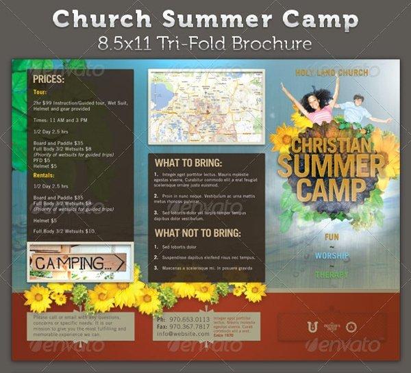 Summer Camp Brochure Ideas Fresh 20 Summer Camp Brochures Psd Vector Eps Jpg Download