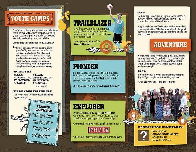 Summer Camp Brochure Ideas Lovely Church Camp Brochure Print Ideas Pinterest