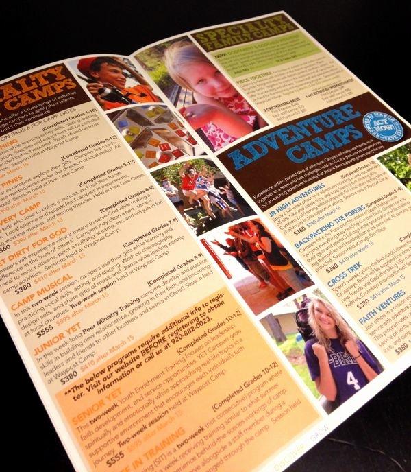 Summer Camp Brochure Ideas Lovely Summer Camp Brochure Squares by Mackenzie Ruiz Via Behance