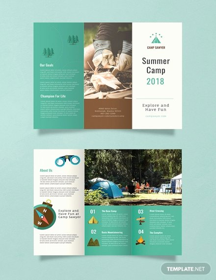 Summer Camp Brochure Ideas Luxury Free Summer Camp Bifold Brochure Template Download 306 Brochures In Psd Illustrator Word