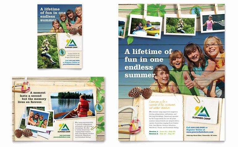 Summer Camp Brochure Ideas Luxury Kids Summer Camp Flyer & Ad Template Word & Publisher