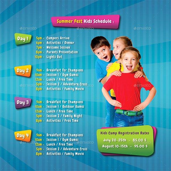Summer Camp Brochure Ideas New 25 Kindergarten Brochure Templates