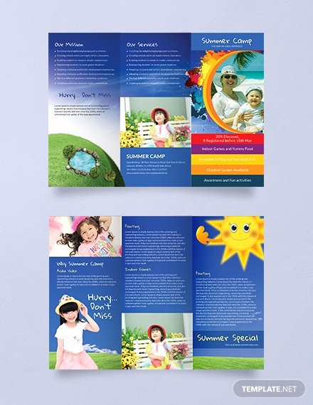 Summer Camp Brochure Ideas New Free Summer Camp Brochure Template Download 345 Brochures In Psd Illustrator Word Publisher