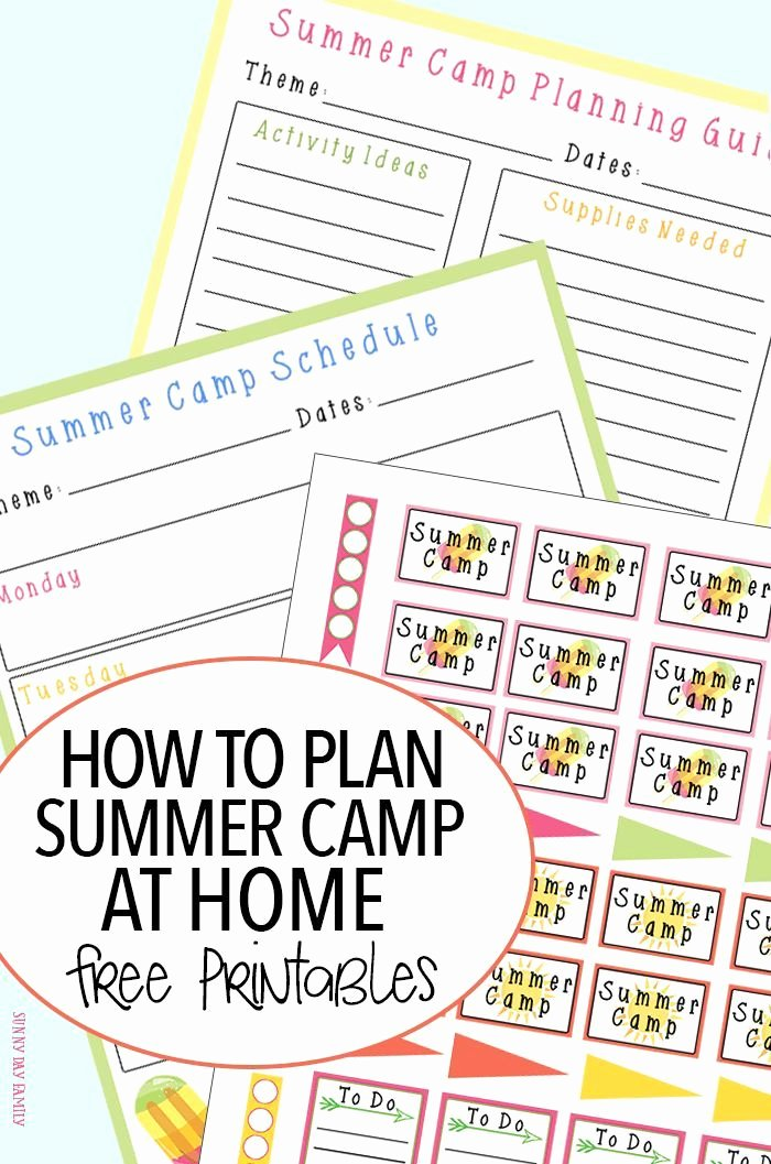 Summer Camp Daily Schedule Template Elegant How to Plan A Summer Camp at Home