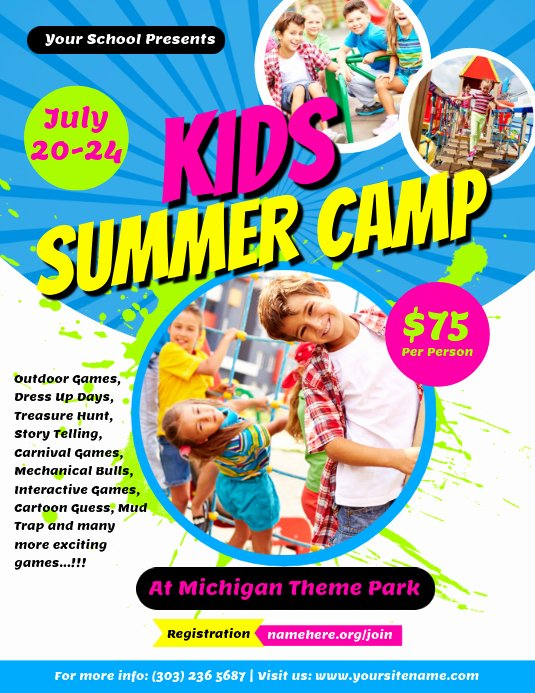 Summer Camp Flyer Design Best Of Kids Summer Camp Flyer Template