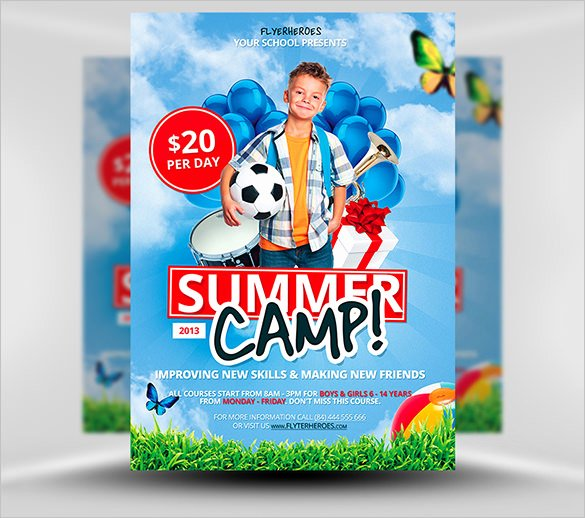 Summer Camp Flyer Design Elegant 51 Summer Camp Flyer Templates Psd Eps Indesign Word