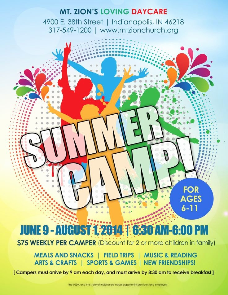 Summer Camp Flyer Design Elegant Summer Camp Flyer Idea Kid Min Pinterest