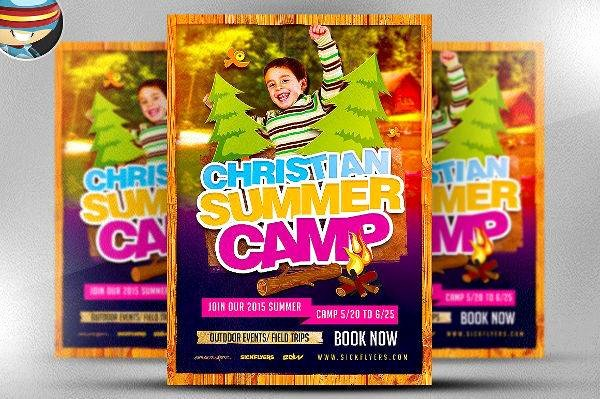 Summer Camp Flyer Design New 21 Camp Flyer Designs Word Psd Ai Eps Vector