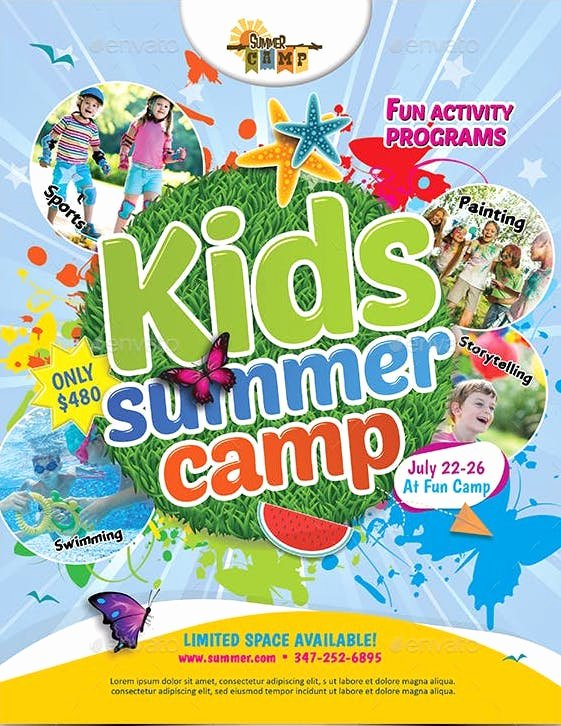 Summer Camp Flyer Design Unique 10 Beautiful Summer Camp Flyer Templates