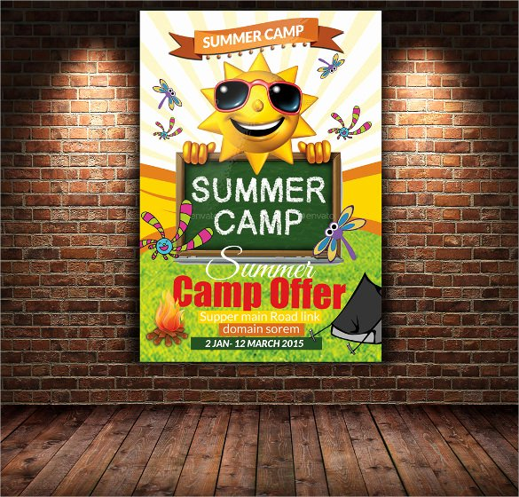 Summer Camp Flyer Design Unique 17 Summer Camp Flyer Templates Word Psd Ai Eps Vector