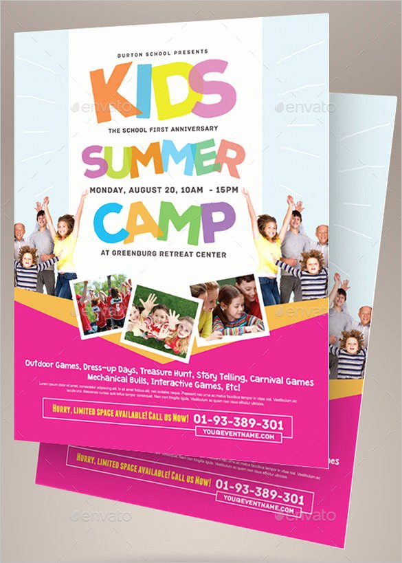Summer Camp Flyer Design Unique 51 Summer Camp Flyer Templates Psd Eps Indesign Word