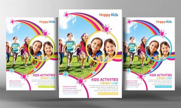 Summer Camp Flyer Design Unique Kids Summer Camp Flyer Templates by Business Tem…