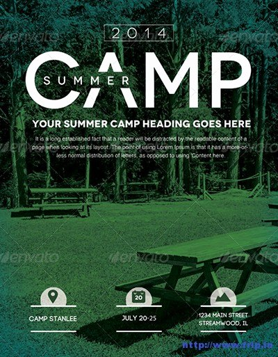 Summer Camp Flyer Template Awesome 40 Best Kids Summer Camp Flyer Print Templates 2016