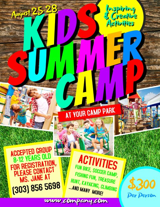 Summer Camp Flyer Template Awesome Kids Summer Camp Flyer Template