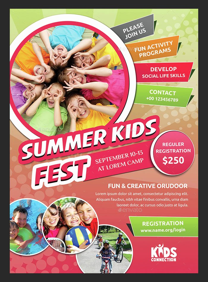 Summer Camp Flyer Template Elegant 30 Summer Camp Flyer Psd Templates Free & Premium Designyep
