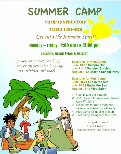 Summer Camp Flyer Template Elegant Summer Camp Summer Camp Flyer