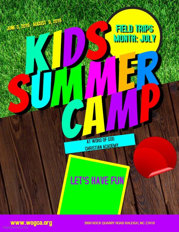 Summer Camp Flyer Template Free Inspirational Summer Camp Flyer