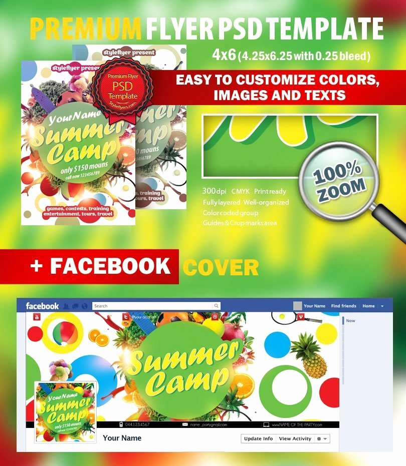 Summer Camp Flyer Template Inspirational Summer Camp Psd Flyer Template 8921 Styleflyers