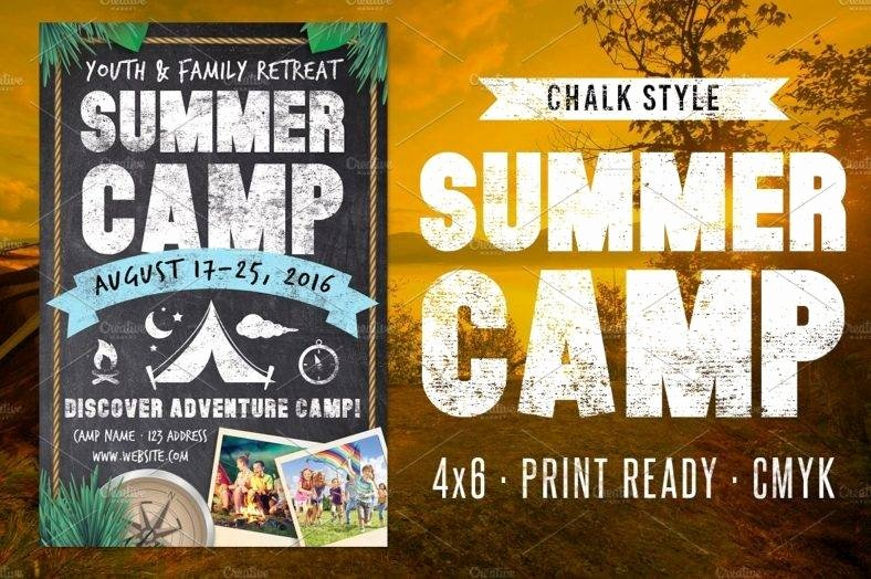 Summer Camp Flyer Template Lovely 10 Retreat Flyer Designs & Templates Psd Ai