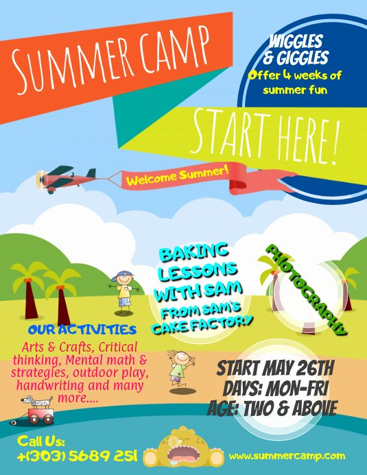 Summer Camp Flyer Template Lovely Summer Camps Flyer Template
