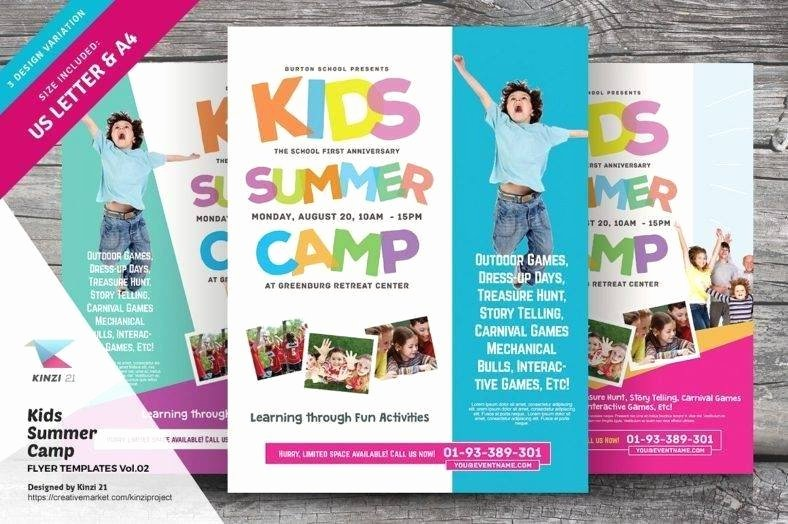Summer Camp Flyer Template New 15 Kids Flyer Designs & Templates Psd Ai