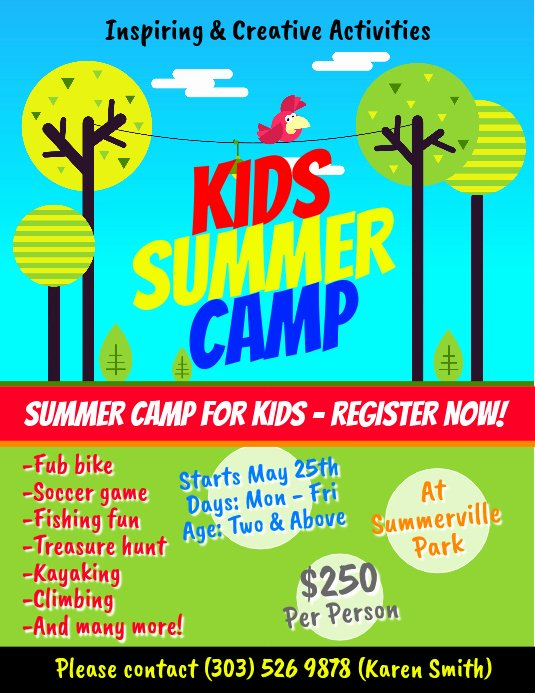 Summer Camp Flyer Template New Copy Of Kids Summer Camp Flyer Template