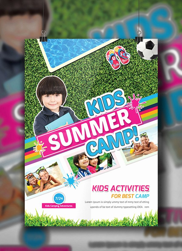 Summer Camp Flyer Template New Kids Summer Camp Flyer Template On Behance