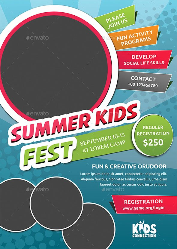 Summer Camp Flyer Template Unique 40 Cool Flyer Templates for Kid & School – Desiznworld