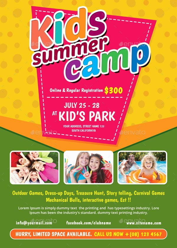 Summer Camp Flyer Template Unique Kids Summer Camp Flyer by themedevisers