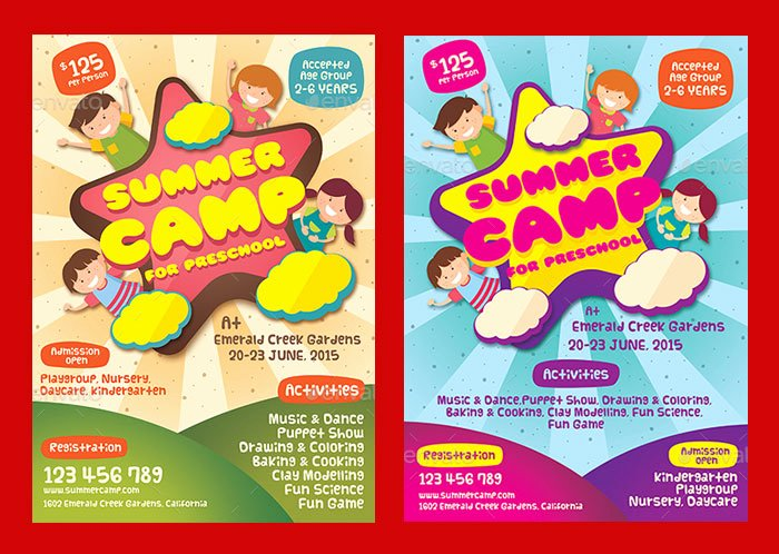 Summer Camp Flyer Templates Free Awesome 30 Summer Camp Flyer Psd Templates Free & Premium Designyep