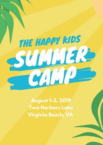 Summer Camp Flyer Templates Free Awesome Summer Camp Flyer