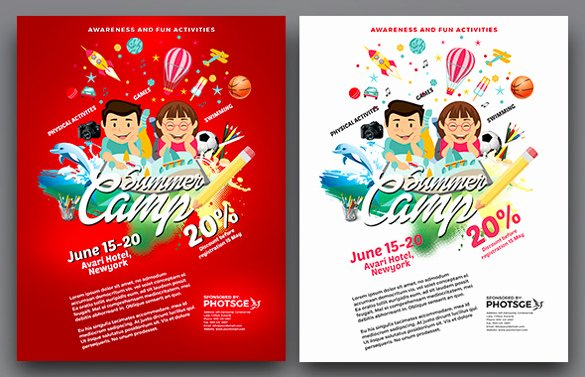 Summer Camp Flyer Templates Free Beautiful 51 Summer Camp Flyer Templates Psd Eps Indesign Word