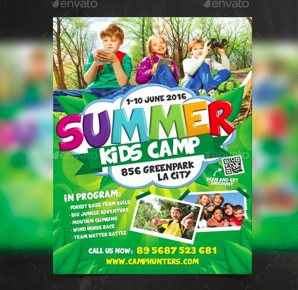 Summer Camp Flyer Templates Free Elegant 51 Summer Camp Flyer Templates Psd Eps Indesign Word