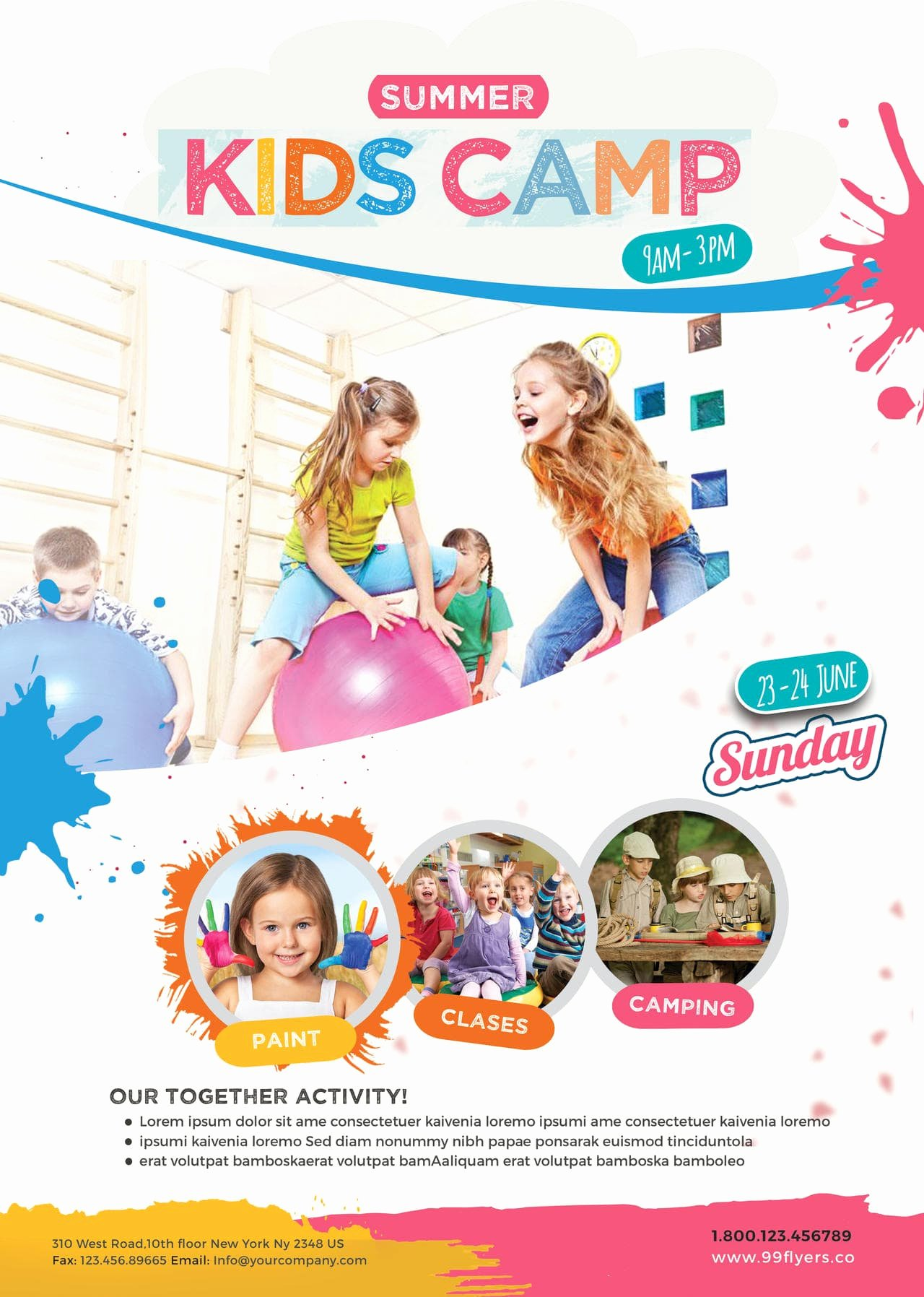 Summer Camp Flyer Templates Free Fresh Kids Summer Camp Free Psd Flyer Template Free Psd Flyer