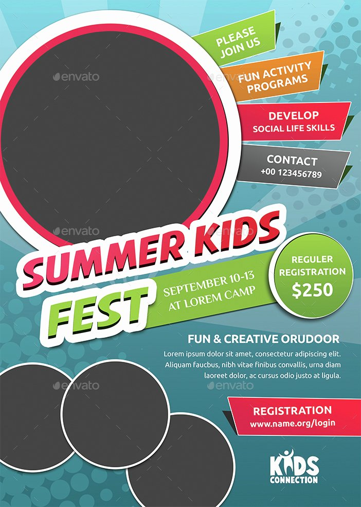 Summer Camp Flyer Templates Free Inspirational Kids Summer Camp Flyer by Jpixel55