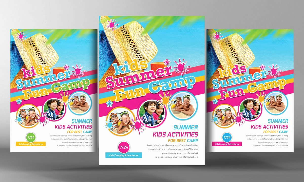 Summer Camp Flyer Templates Free Luxury Kids Summer Camp Flyer Template Flyer Templates