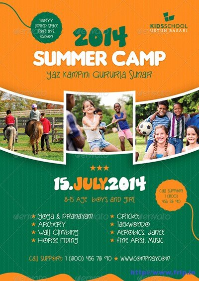 Summer Camp Flyer Templates Free Unique 40 Best Kids Summer Camp Flyer Print Templates 2016