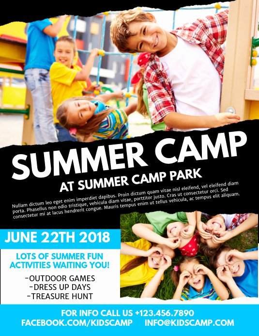 Summer Camp Flyer Templates Free Unique Summer Camp Flyer Template