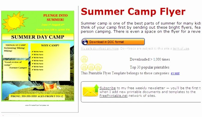 Summer Camp Schedules Template Elegant 6 Summer Camp Lesson Plan Template Koeop