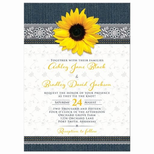Sunflower Wedding Invitations Templates Awesome Party Simplicity Denim Wedding Ideas and Inspiration