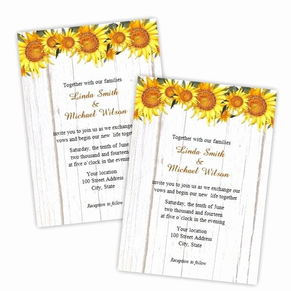 Sunflower Wedding Invitations Templates Best Of Country Sunflowers Wedding Invitation Template – A J S Prints