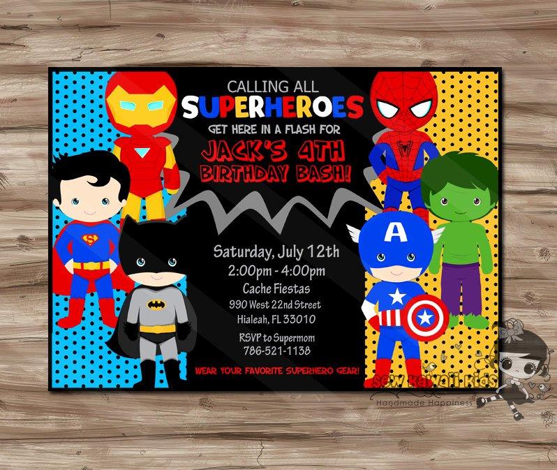 Super Hero Birthday Invitation Awesome Superhero Invitation Superhero Invitation Superhero Invitation