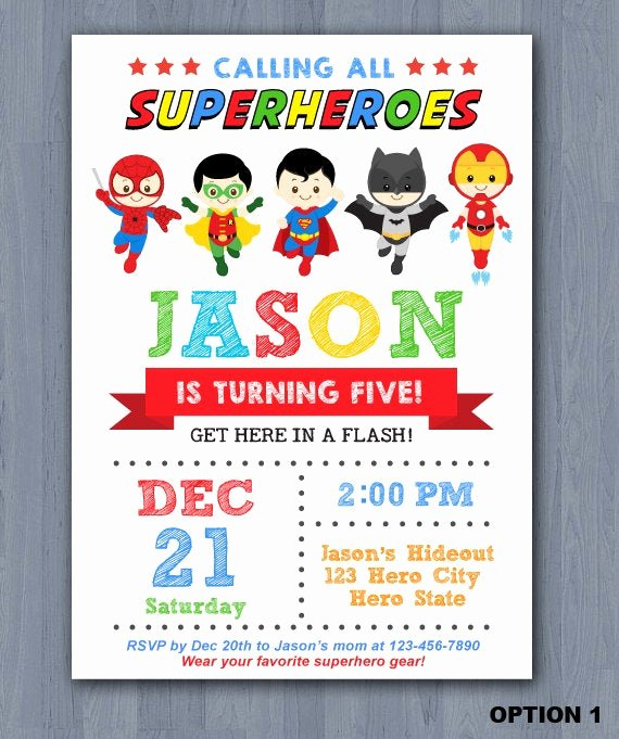 Super Hero Birthday Invitation Elegant Superhero Birthday Invitation Superhero Invitation Avengers Invitation