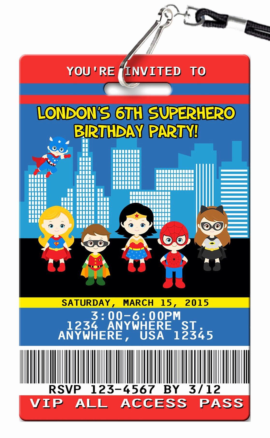 Super Hero Birthday Invitation Elegant Superhero Birthday Invitations Pvc Invites Vip Birthday Invitations