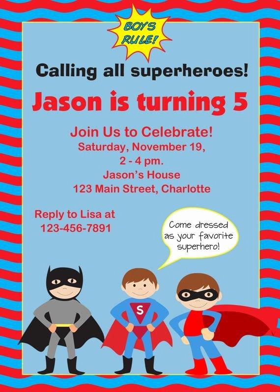 Super Hero Birthday Invitation Luxury 17 Best Images About Superhero Birthday Party Ideas On Pinterest