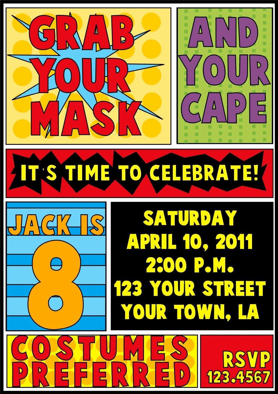 Super Hero Birthday Invitation New Superhero Birthday Invitation
